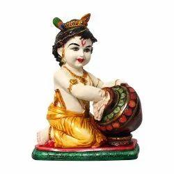 Laddu Gopal /Krishna / Kanha Ji Multicolor Polyresin Statue / Murti