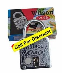 Wilson With Key Square Padlock 40 mm, Packaging Size: 6 Pieces, Chrome