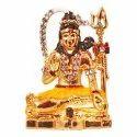 Gold Plated Lord Shiva Car Dashboard Idol / Statue