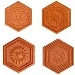 Red Clay CWT0021 250 x 250 mm Terracota Tiles, For Home