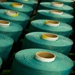 Green Spun Polyester Dyed Yarn