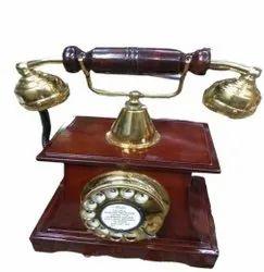 20th Century Antique Wooden Telephone