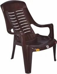 Brown Plastic Relax Chair, For Home