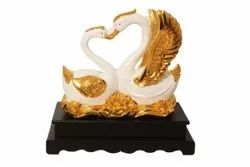 White And Gold Love Symbol Swan