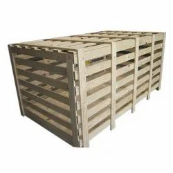 Brown Industrial Pine Wood Box, Weight Holding Capacity(Kg): >1000 Kg