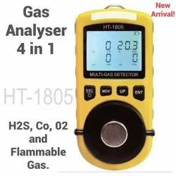 HSETIN H2S, CO, O2 & Combustible Gas Monitor With Calibration Certificate