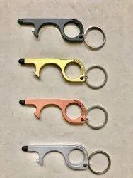 Metal Covid Keychain
