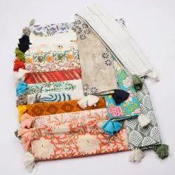 Women Cotton Printed Tassel Stole