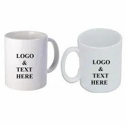 8 Oz Promotional Ceramic White Custom Coffee Mug 350 Ml