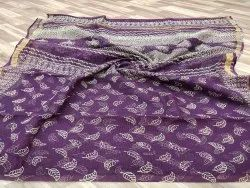 Party Wear Printed Kota Doriya Saree, 6.3 m (with blouse piece)