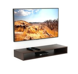 Bluewud Kyvid Engineered Wood TV Entertainment Wall Unit/ Set Top Box Stand (Large)