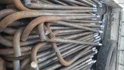 Mild Steel J Shape Foundation Bolt, For Construction