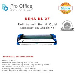 Neha Nl 27 Hot & Cold Roll To Roll Paper Lamination Machine