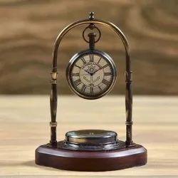 TORA Brass 2 Jhoola Table Clock