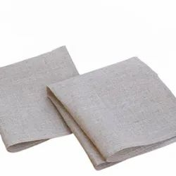 Plain Grey Table Cotton Napkin, For Hotel, Size: 55 X 55 Cm (lxw)