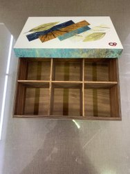 MDF Rectangular Printed Wooden Dry Fruit Box W/6, For Multi, Size/Dimension: 9.5