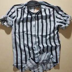 Casual Wear check Imported striper viscose shirt