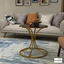 Home Texa Golden Designer Glass Center Table