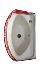Wall Mounted White Ceramic Hand Wash Basin, For Bathroom