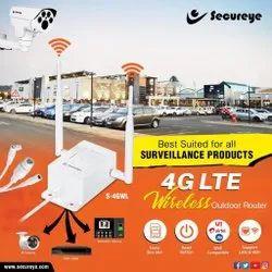 Secureye白色4G LTE无线户外路由器,用于监控,150mbps