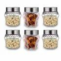 Croco Crystal Storage Glass Jar, 300ML, With Rust Proof Air Tight Lid