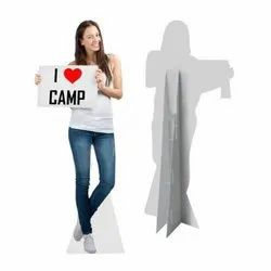 Vinyl Standee Cutout Advertising Banners, For Promotion, Size: 5 Feet