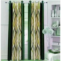 Green Printed Curtain