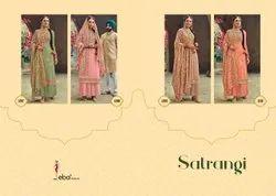 Satrangi By Eba Lifestyle Georgette Embroidery Beautiful Salwar Suits