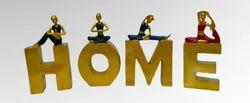 Polyresin Yoga Home Love, For Interior Decor, Size/Dimension: 8 Inch