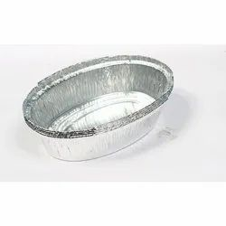 600 ML Silver Aluminum Foil Disposable Food Containers