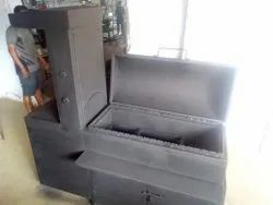 MS Coated Barbeque Charcoal Grill with Shawarma Machine