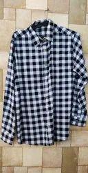 Men Cotton Check Shirt, Size: Medium
