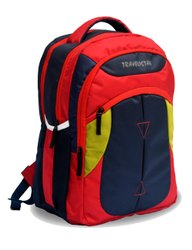 Polyester Big School Bag,Backpack Unisex Grey & Orange Brand Logo Backpack, Number Of Compartments: 2, Bag Capacity: 12 To 15