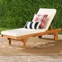 Wooden Sun Lounger