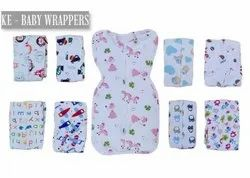 White Cotton Baby Swaddle Wrapper