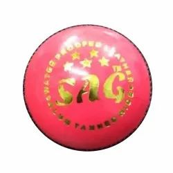 Test Pink Leather Cricket Ball