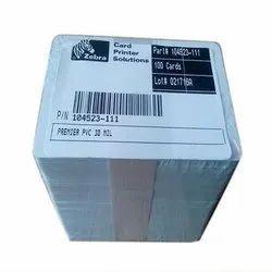 Zebra PVC Cards -104523-111