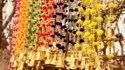 Colorful Woolen Pom Pom Garland With Bells