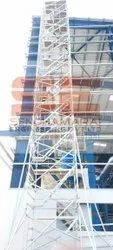 Hot Dipped Galvanized Silver H Frame Scaffolding Rental