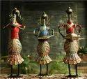 Vertical Multicolor Sardar Lady Musician, For Decoration, Size/dimension: 35x7x25 Cm