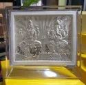Laxmi Ganesh Silver Frame