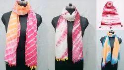 Shibori Tie Dye Printed Stole