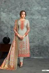 Heavy Faux Georgette Printed Suit Salwar