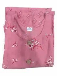 Casual Wear Straight Ladies Cotton Pink Kurti, Size: XL, Wash Care: Machine wash