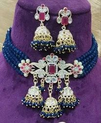 Wedding Artificial Necklace Set, Size: Free Size