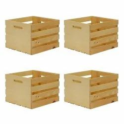 Square Pine Wood Wooden Pallets Box, For Packaging