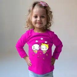 Think Kids Girl Purple Printed T Shirt