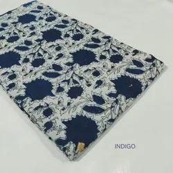 Indigo Printed Cotton Suit Fabric