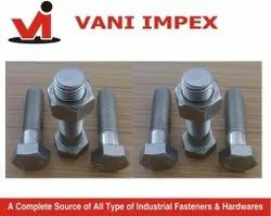 Hexagonal Stainless Steel Bolts, Material Grade: Ss 202,304 And 316, Size: M 6 To M 36