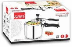 Avias India Induction Compatible Pressure Cooker, For Home, Capacity: 3 And 5 Litres